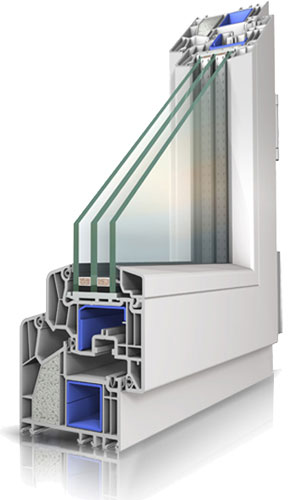 PVC OKNO primerno za pasivno gradnjo