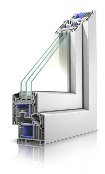 Pvc okno primerno za pasivno gradnjo in adaptacijo starih oken